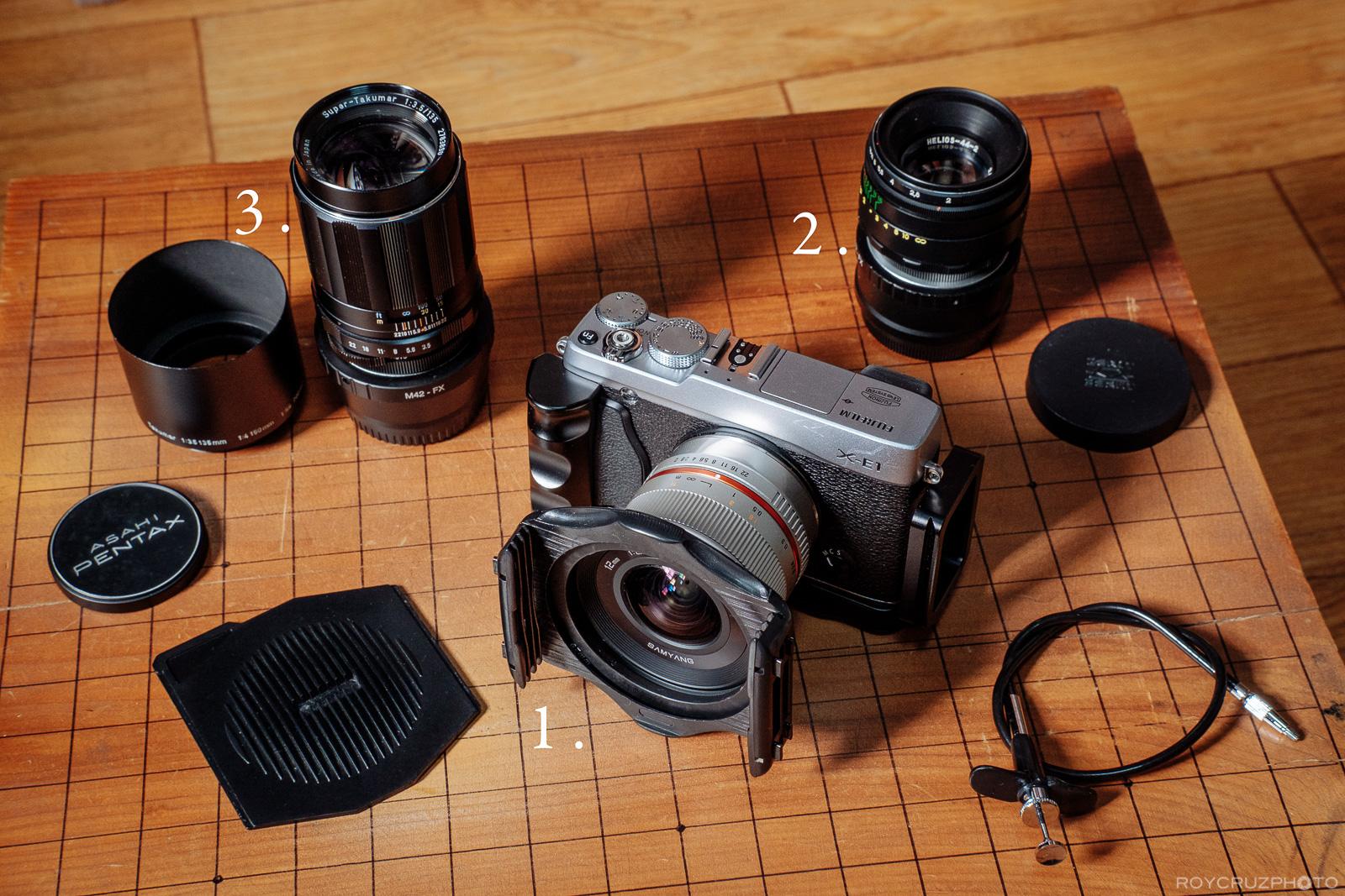 Manual Samyang M42 Lenses With Fuji X-1