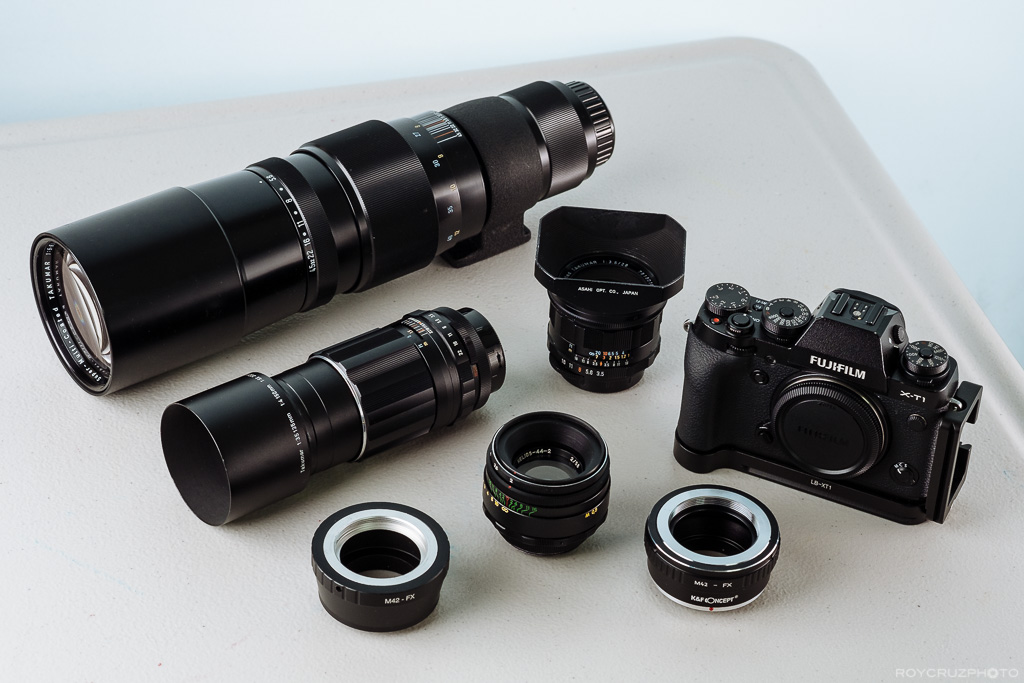Cheap Vintage M42 Manual Lenses for Fuji X Mirrorless